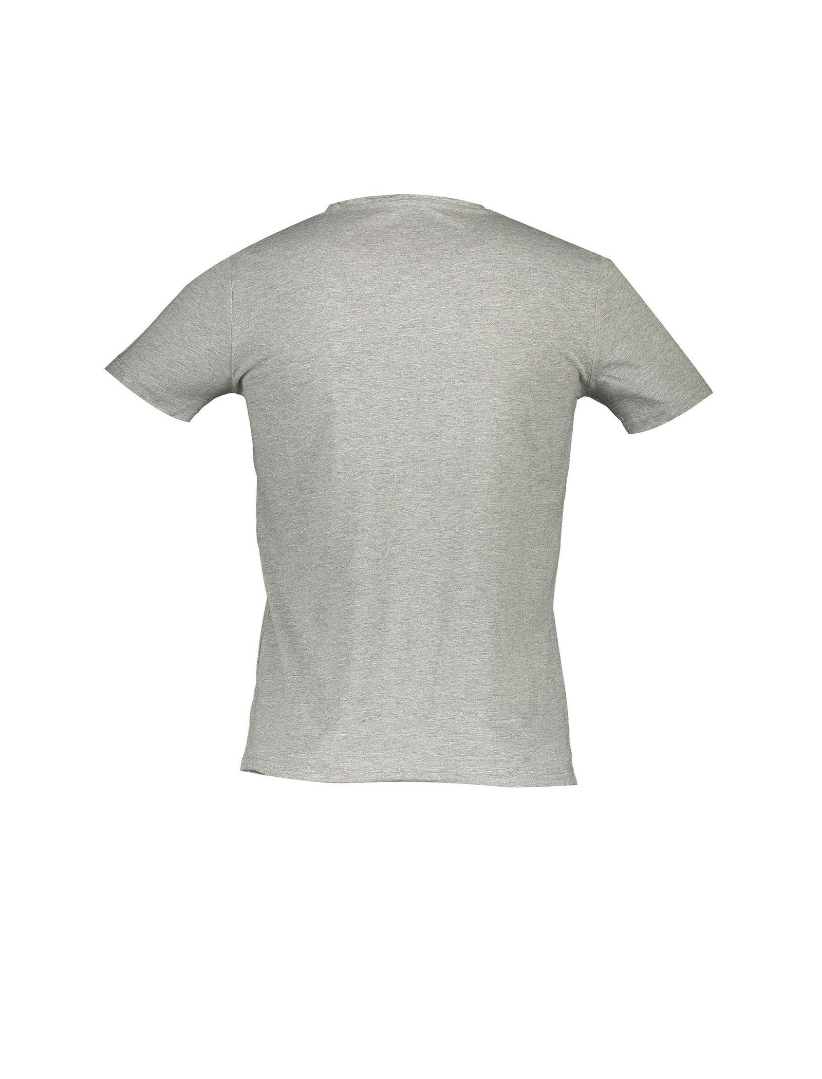 تی شرت نخی یقه گرد مردانه - یوپیم - طوسي - 2