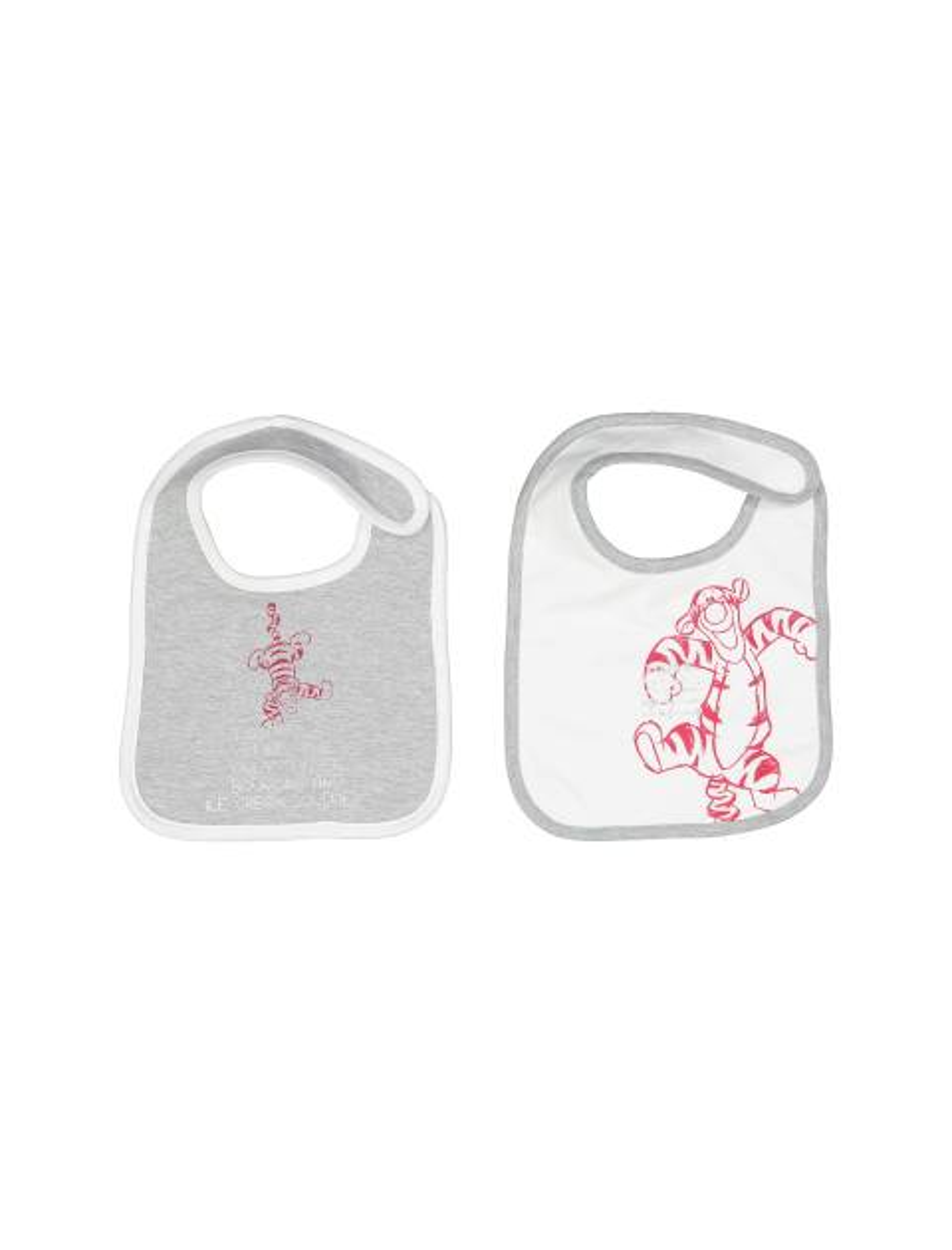 پیش بند نخی نوزادی بسته 2 عددی - طوسي و سفيد - 1