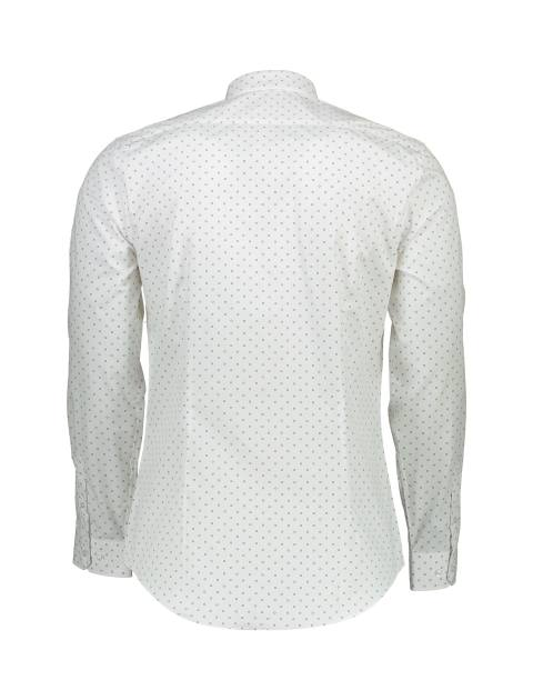 پیراهن آستین بلند مردانه - سفيد - 2