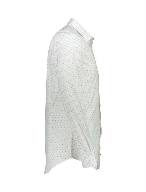 پیراهن آستین بلند مردانه - سفيد - 3