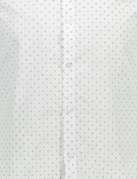 پیراهن آستین بلند مردانه - سفيد - 4