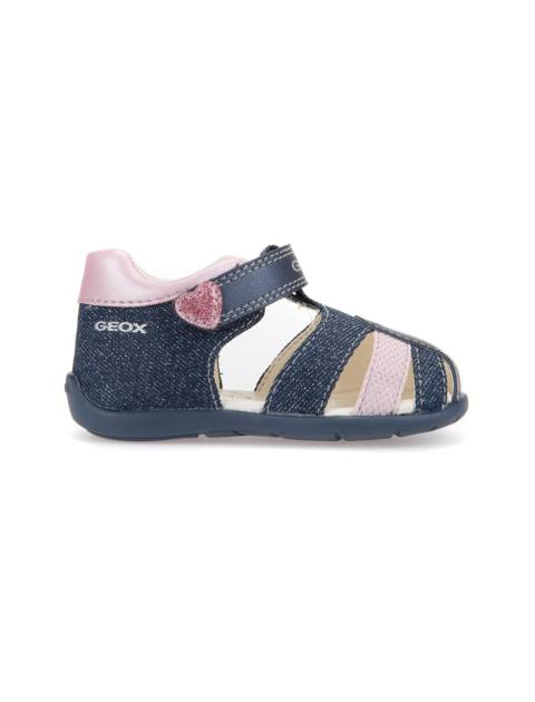 کفش پارچه ای چسبی نوزادی دخترانه KAYTAN - جی اوکس - سرمه اي - 1