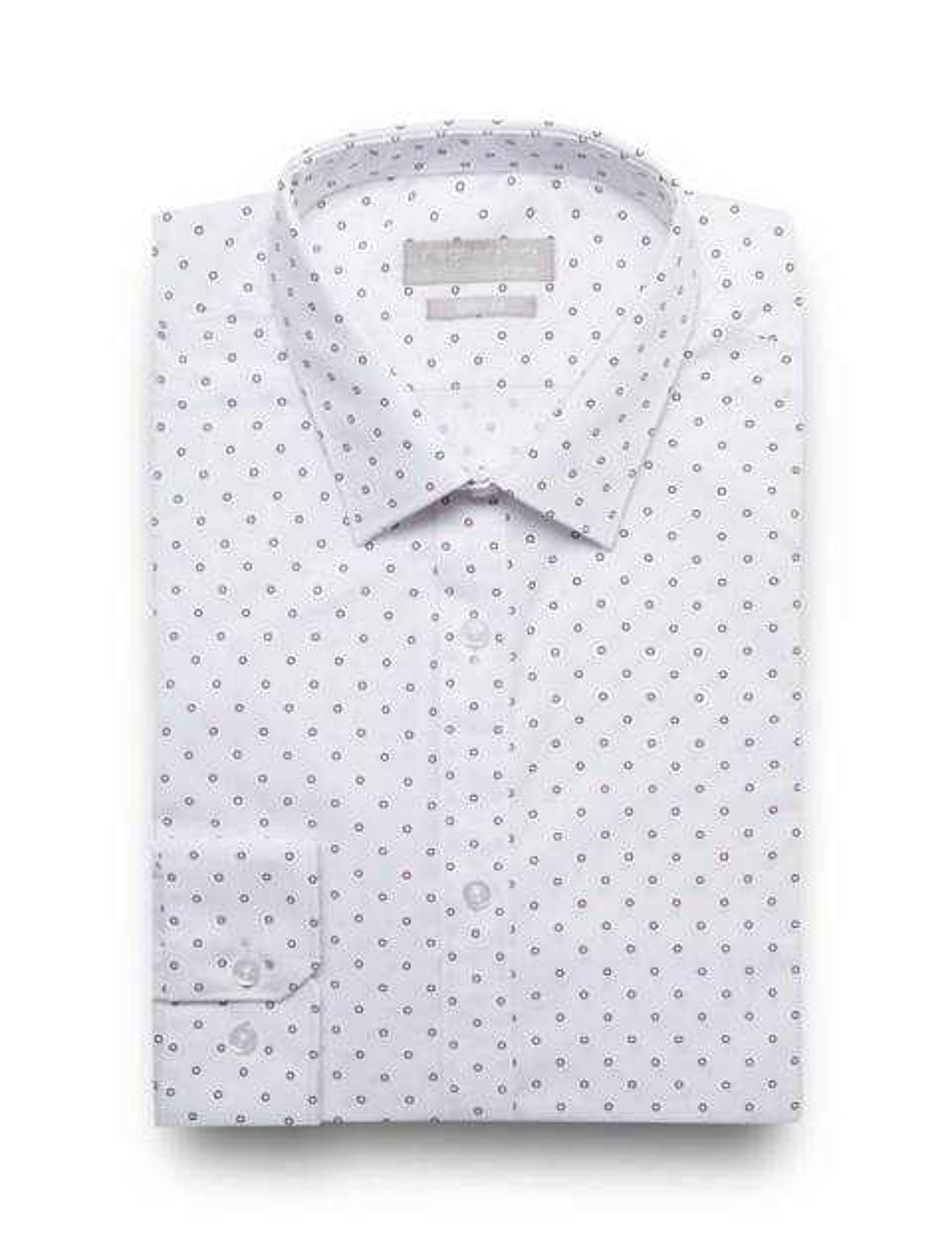 پیراهن آستین بلند مردانه - سفيد - 5