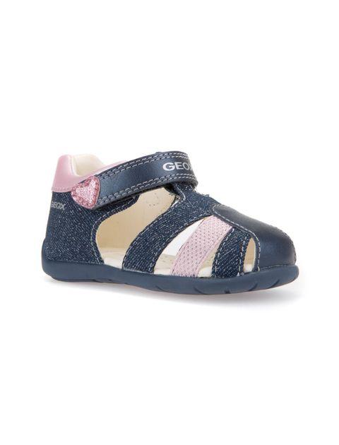 کفش پارچه ای چسبی نوزادی دخترانه KAYTAN - جی اوکس - سرمه اي - 4