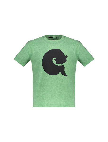 تی شرت یقه گرد زنانه - سبز - 1