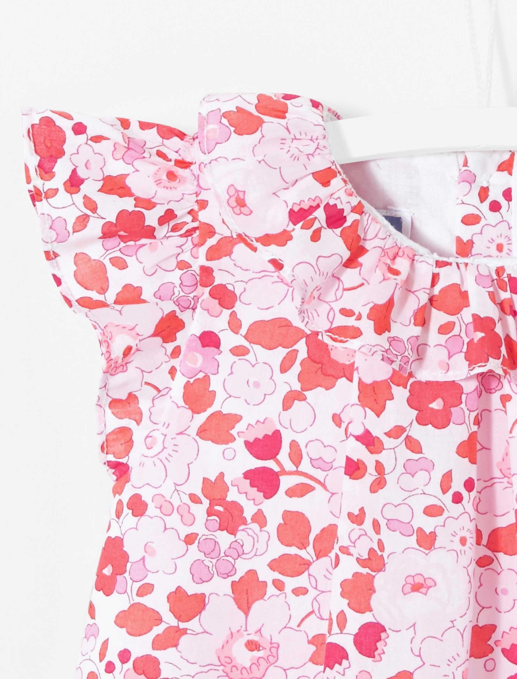 سرهمی نخی طرح دار نوزادی دخترانه Lelle - جاکادی - قرمز - 4