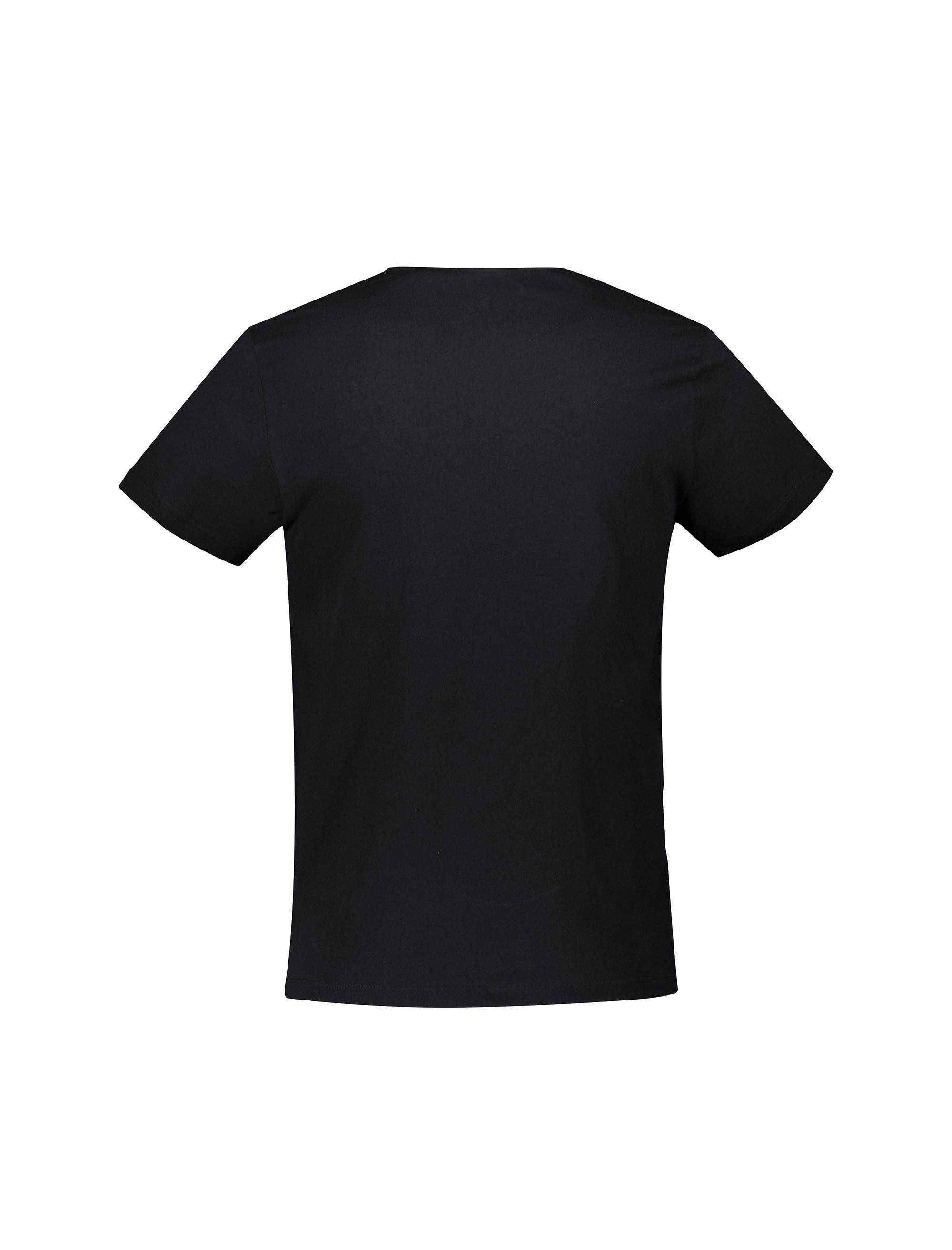 تی شرت نخی هفت گرد مردانه - مشکي - 2
