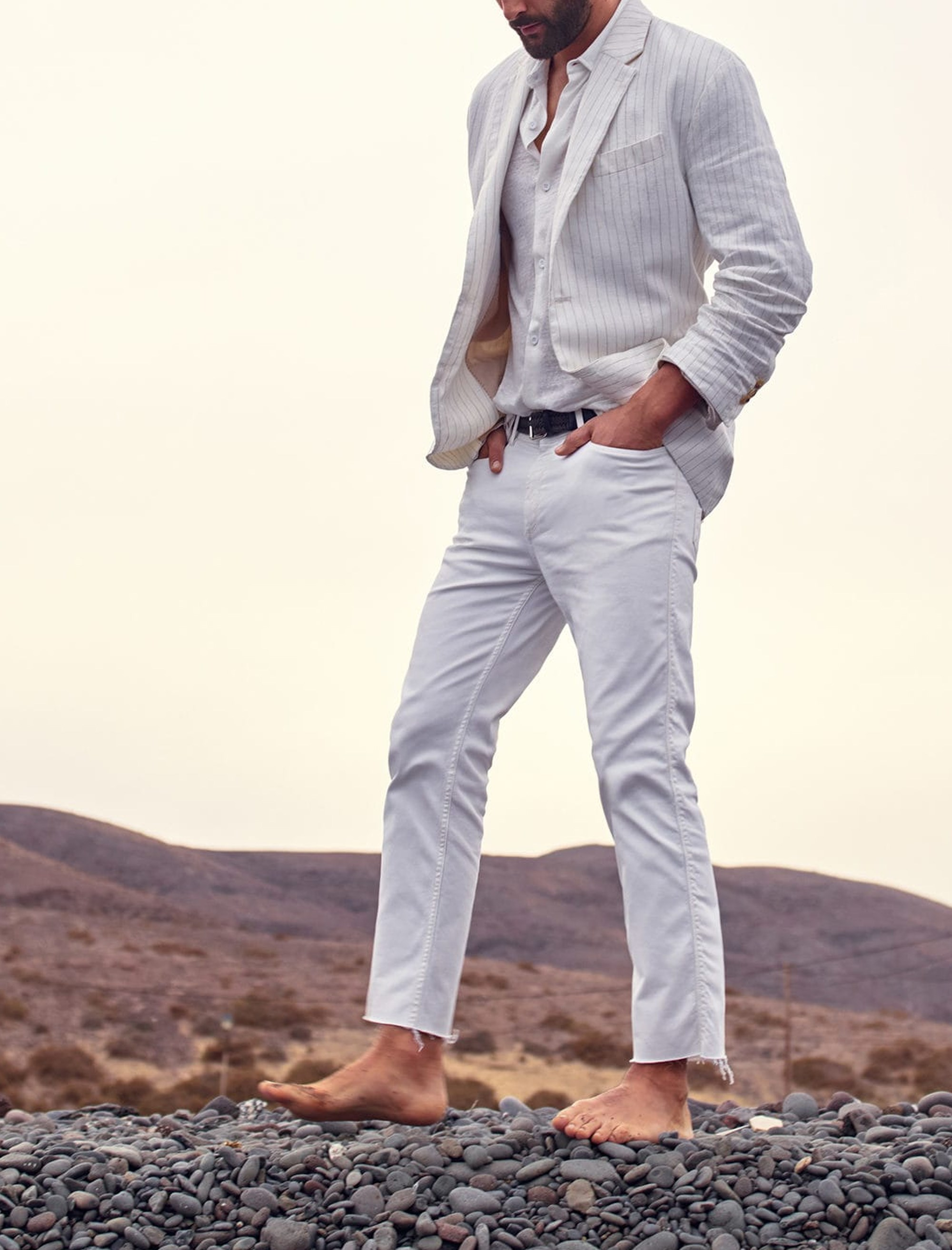 شلوار جین راسته مردانه - مانگو