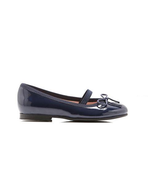 کفش چرم تخت دخترانه Dittle - سرمه اي - 1