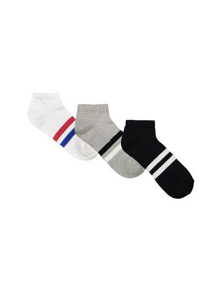 جوراب نخی ساق کوتاه مردانه بسته 3 عددی - چند رنگ - 1