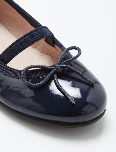 کفش چرم تخت دخترانه Dittle - سرمه اي - 3