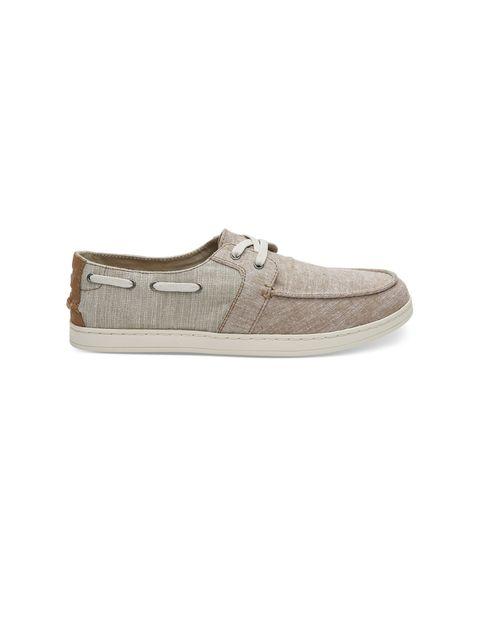 کفش راحتی پارچه ای مردانه - کرم - 1