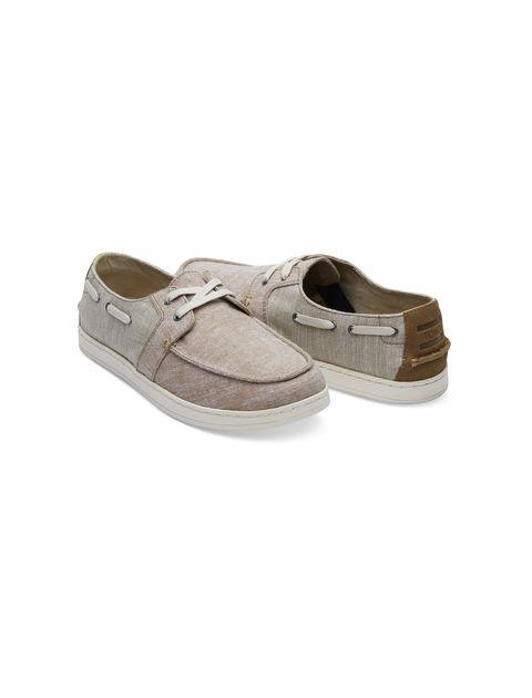 کفش راحتی پارچه ای مردانه - کرم - 2