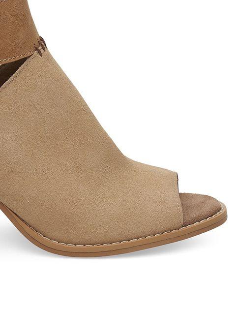 کفش پاشنه بلند چرم زنانه Seville - عسلي - 4
