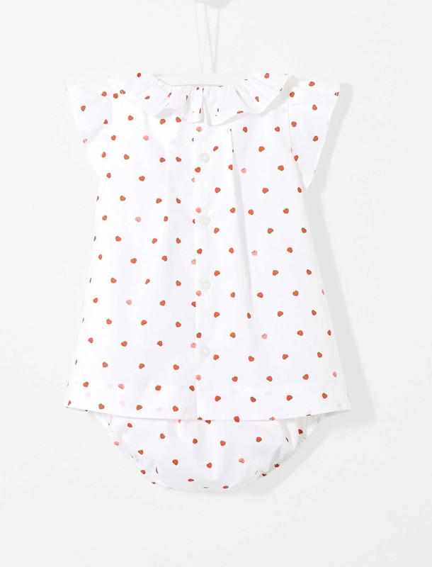 پیراهن نخی نوزادی دخترانه - جاکادی