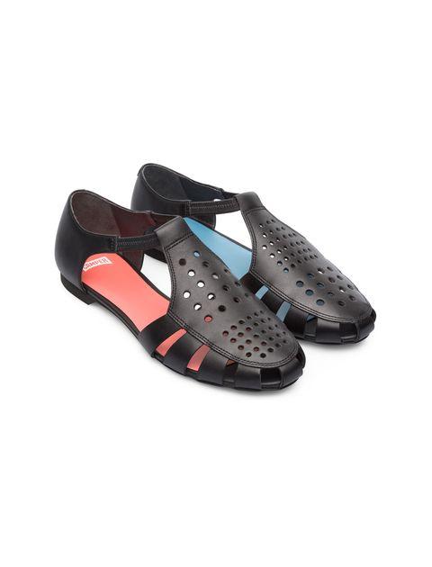 کفش چرم تخت زنانه Servolux - مشکي - 5