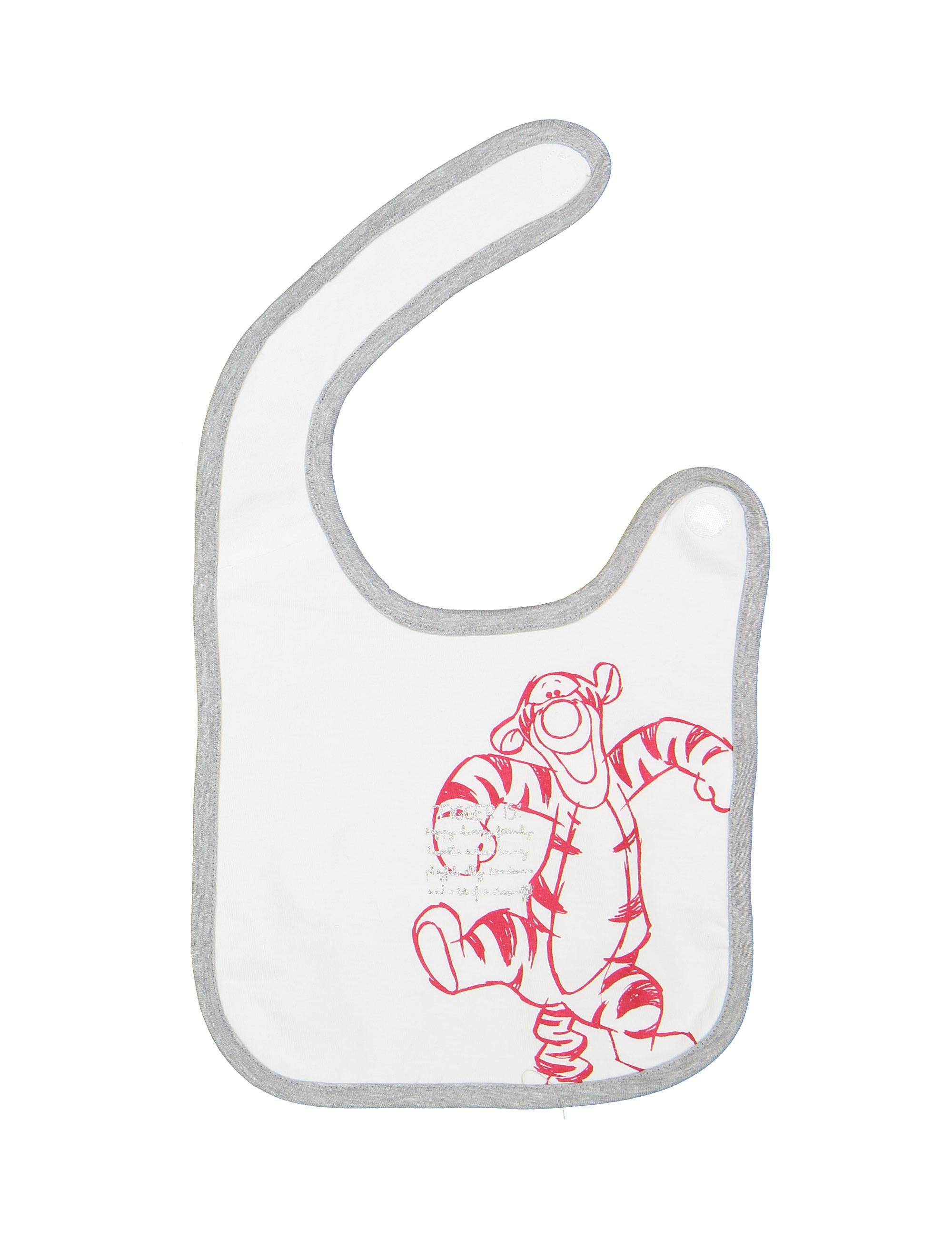 پیش بند نخی نوزادی بسته 2 عددی - طوسي و سفيد - 8
