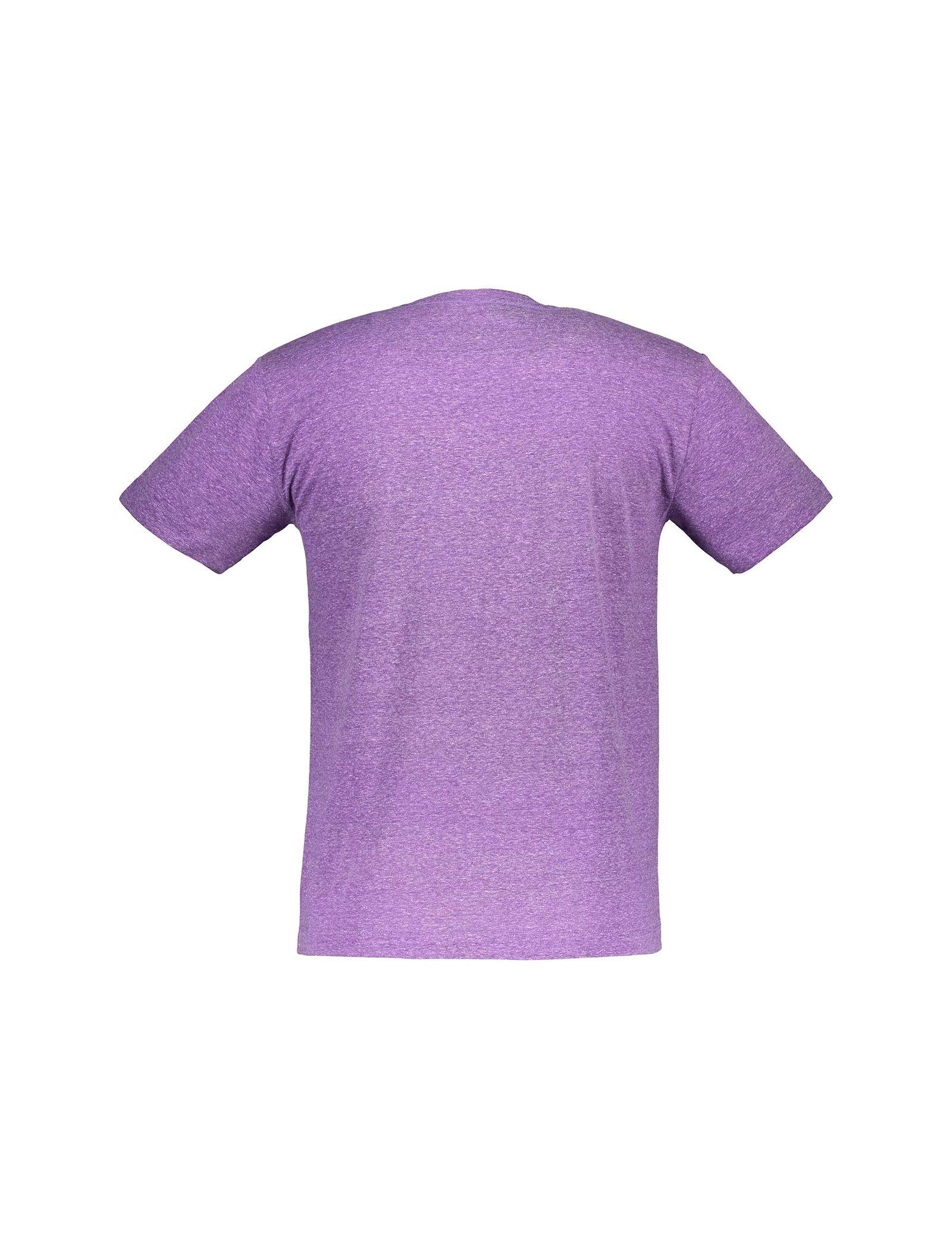 تی شرت یقه گرد مردانه - متی - بنفش - 2