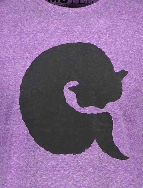 تی شرت یقه گرد مردانه - بنفش - 4