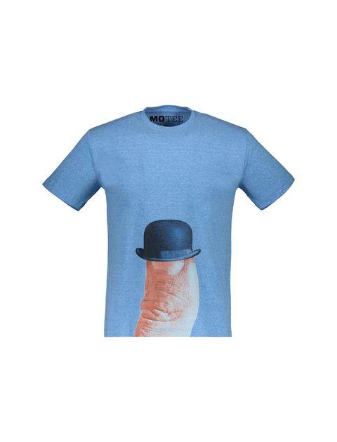 تی شرت یقه گرد مردانه - متی - آبي - 1