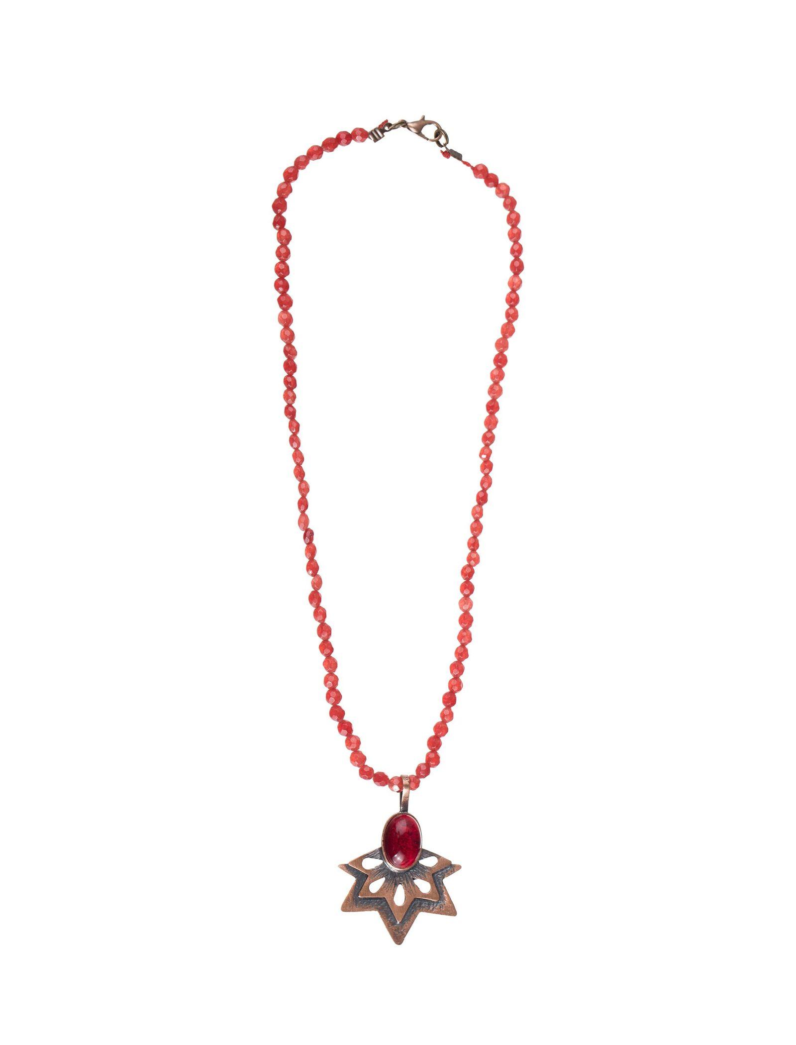 گردنبند آویز زنانه - زرمس تک سایز - قرمز - 1