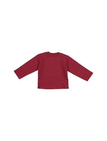 تی شرت و شلوار نخی پسرانه - زرشکي  - 3