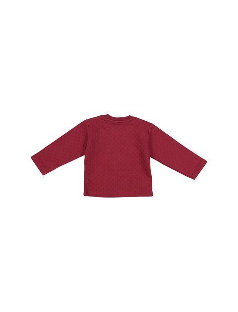 تی شرت و شلوار نخی پسرانه - سون پون - زرشکي  - 3