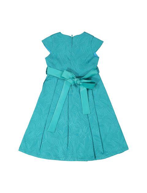 پیراهن مهمانی دخترانه - سبز آبي  - 2