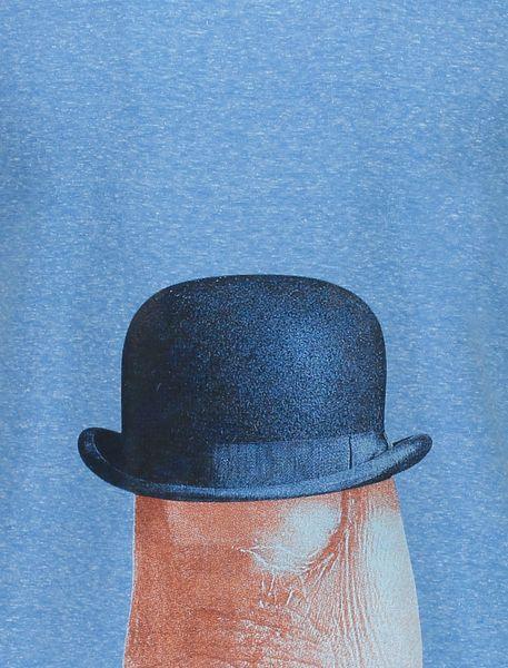 تی شرت یقه گرد مردانه - آبي - 5