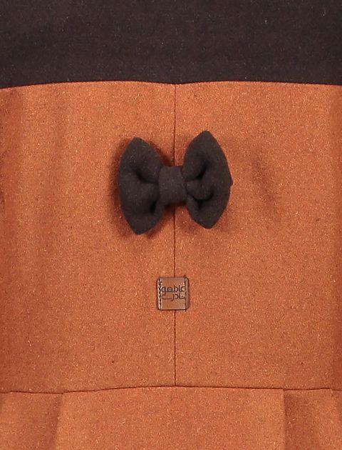 پالتو بلند زنانه - نارنجي/قهوهاي - 4