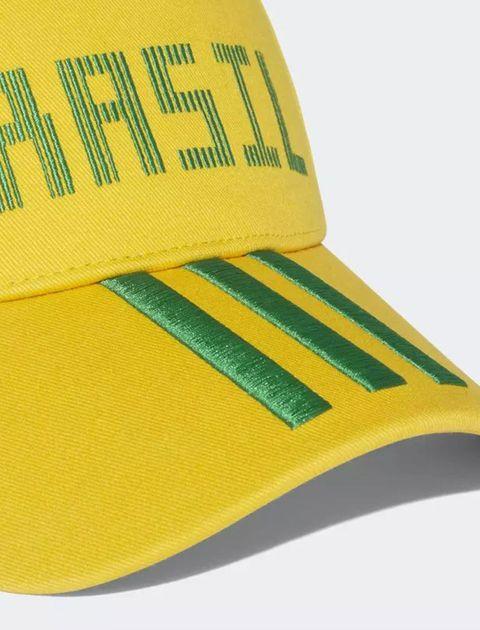 کپ نخی ساده بزرگسال Brazil - آدیداس - زرد - 4