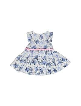 پیراهن نخی آستین کوتاه نوزادی دخترانه | Baby Girls Cotton Short Sleeve Dress