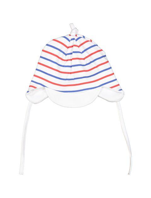 کلاه نخی طرح دار نوزادی پسرانه - سفيد - 1