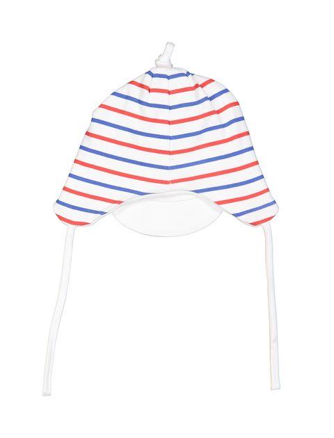 کلاه نخی طرح دار نوزادی پسرانه - سفيد - 2