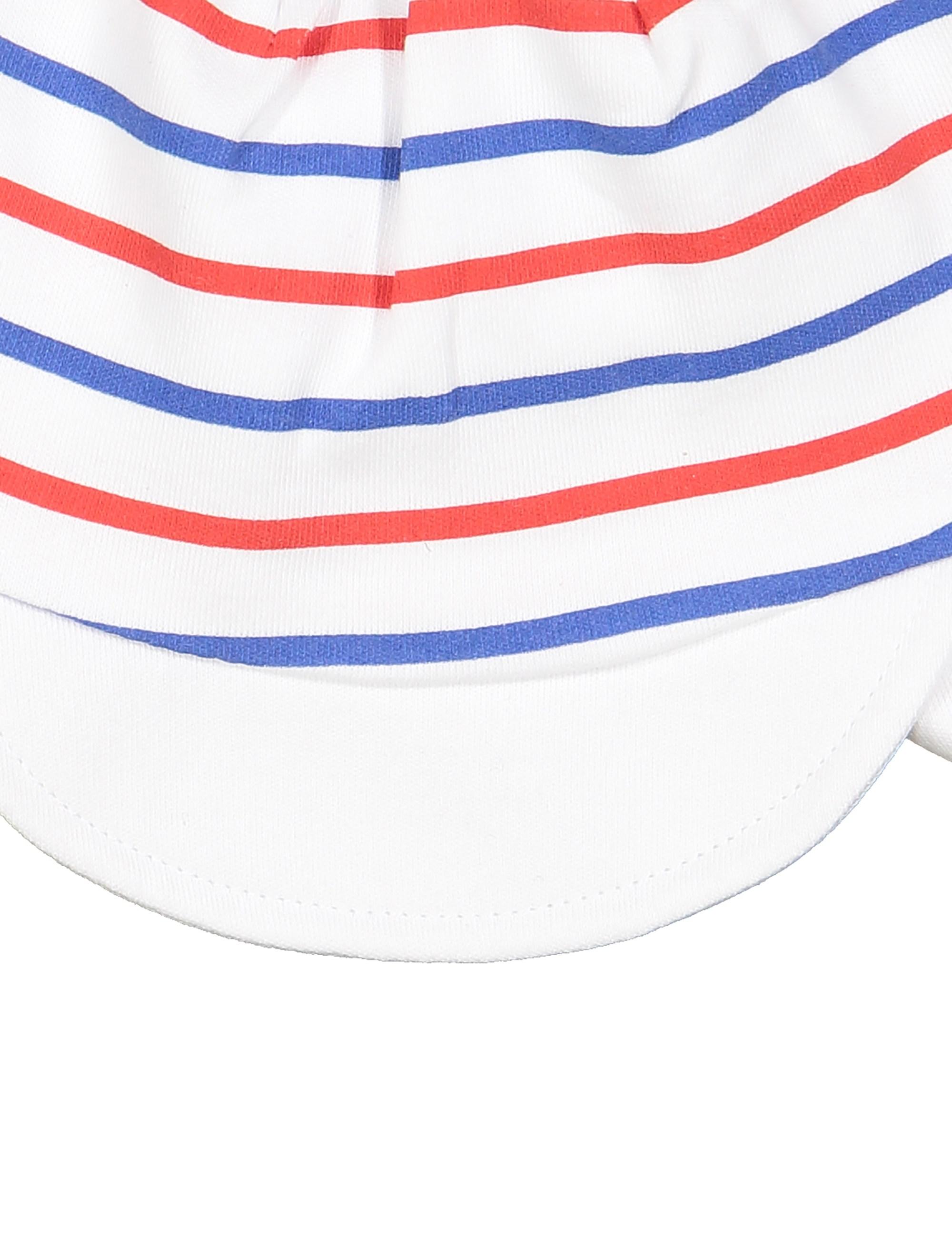 کلاه نخی طرح دار نوزادی پسرانه - ایدکس - سفيد - 4