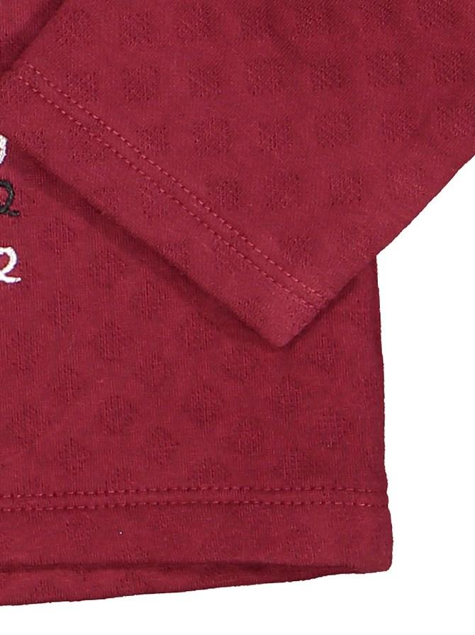 تی شرت و شلوار نخی پسرانه - سون پون - زرشکي  - 7