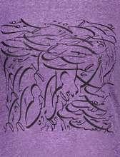تی شرت یقه گرد زنانه - بنفش - 4