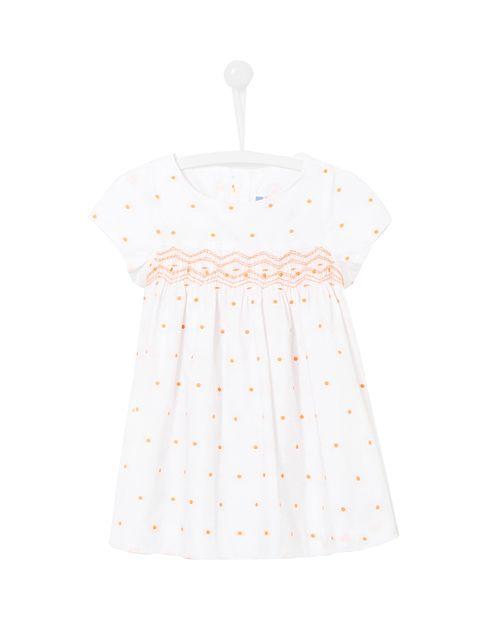 پیراهن نخی نوزادی دخترانه Lexiabis - جاکادی - سفيد - 1