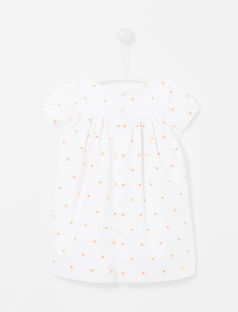 پیراهن نخی نوزادی دخترانه Lexiabis - جاکادی - سفيد - 2