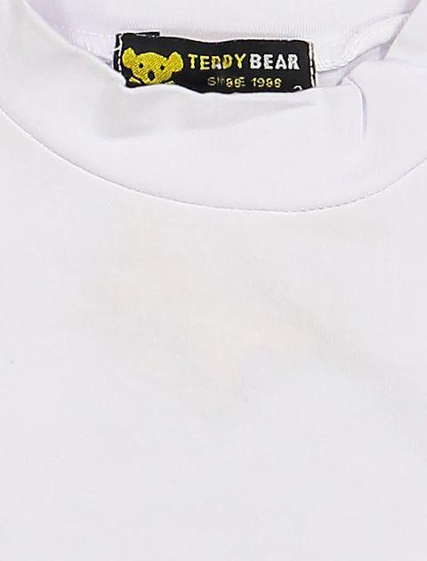 تی شرت نخی ساده دخترانه کلاسیک - سفيد - 3