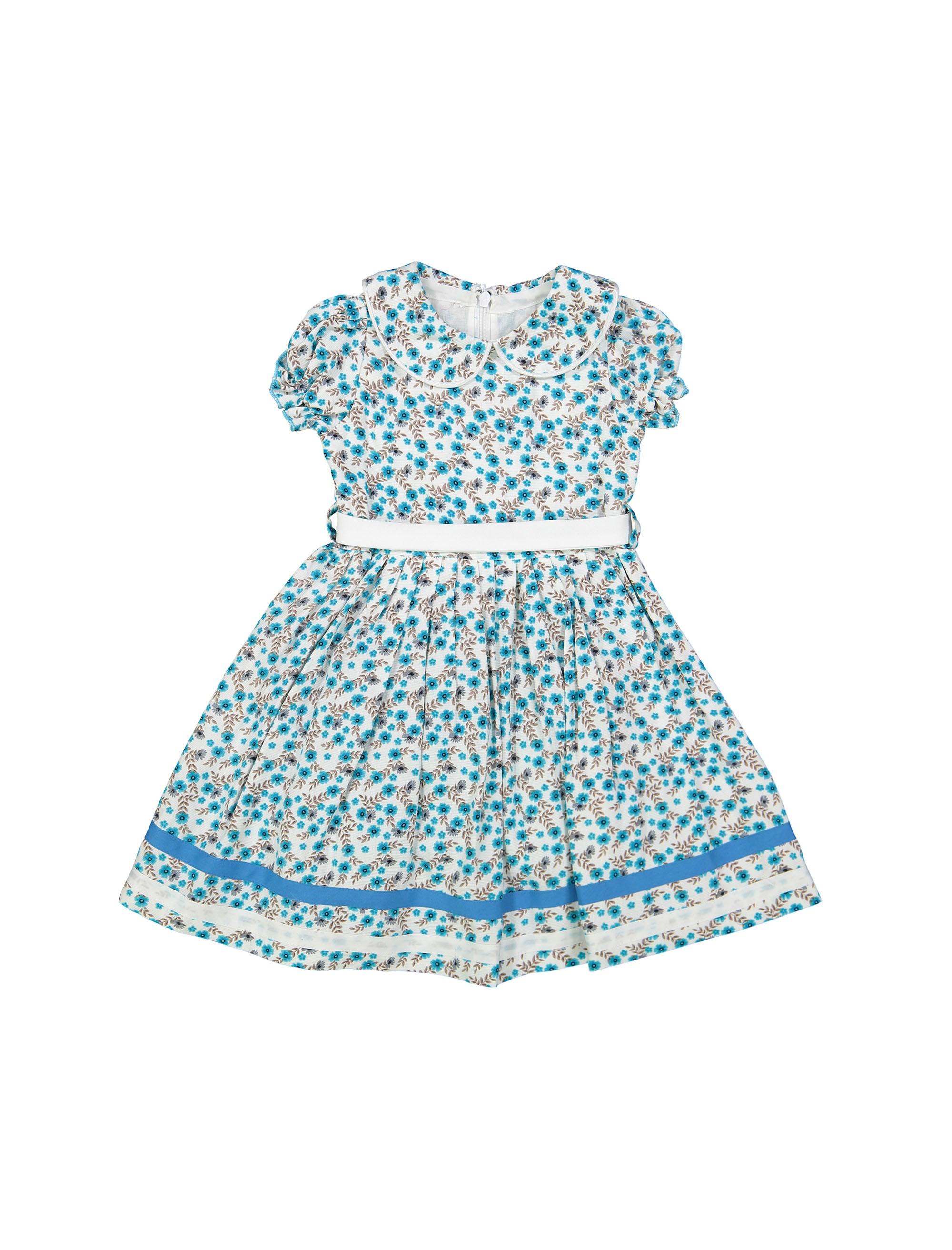 پیراهن مهمانی دخترانه - آبي  - 1
