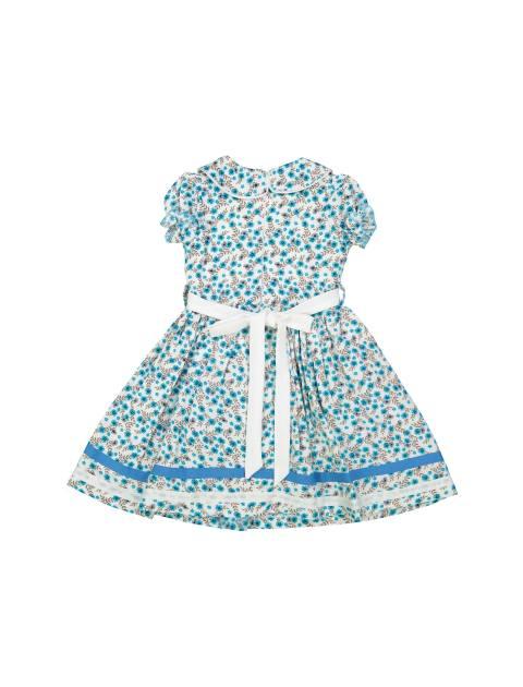 پیراهن مهمانی دخترانه - آبي  - 2