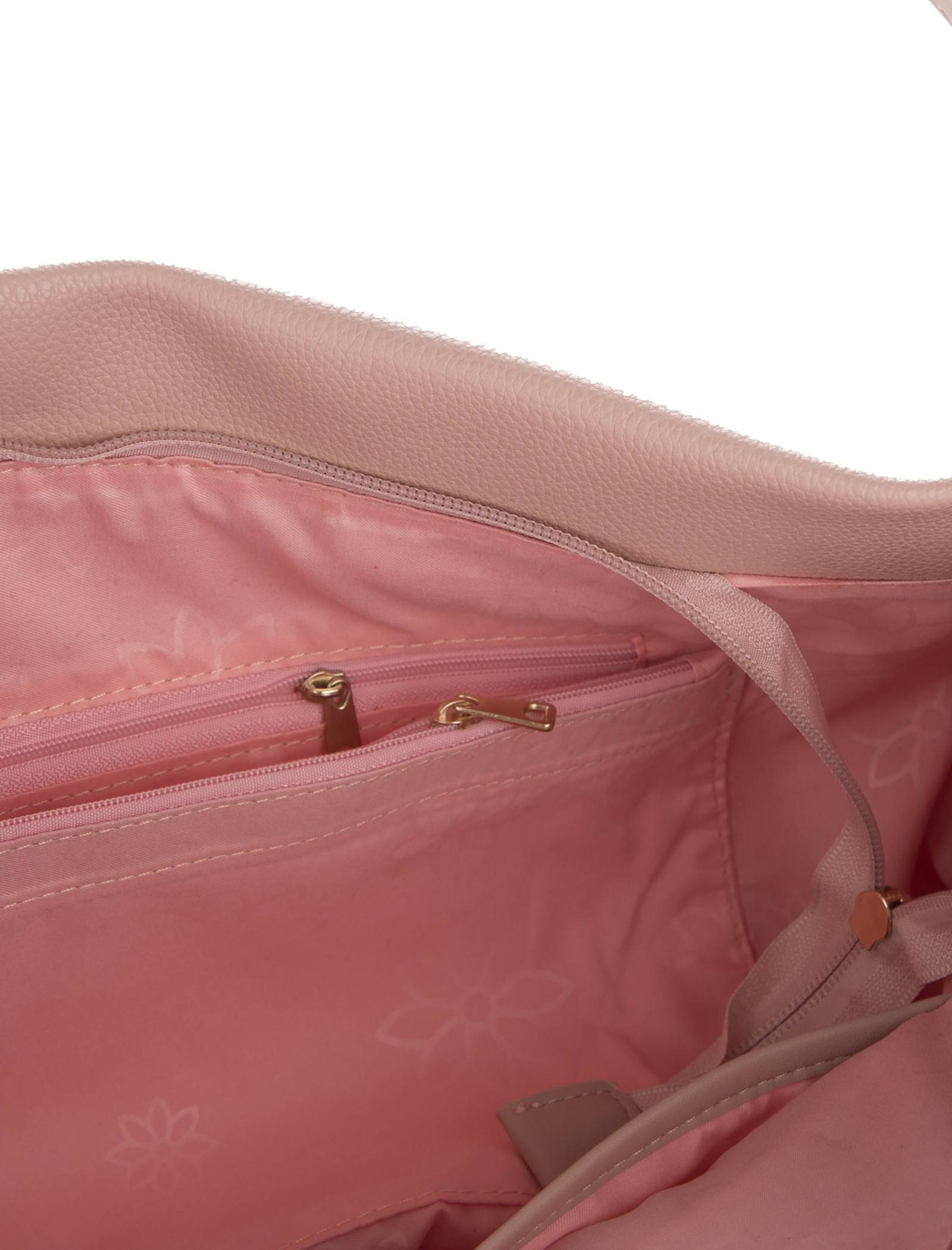 کیف دوشی روزمره زنانه - دادلین تک سایز - صورتي - 7