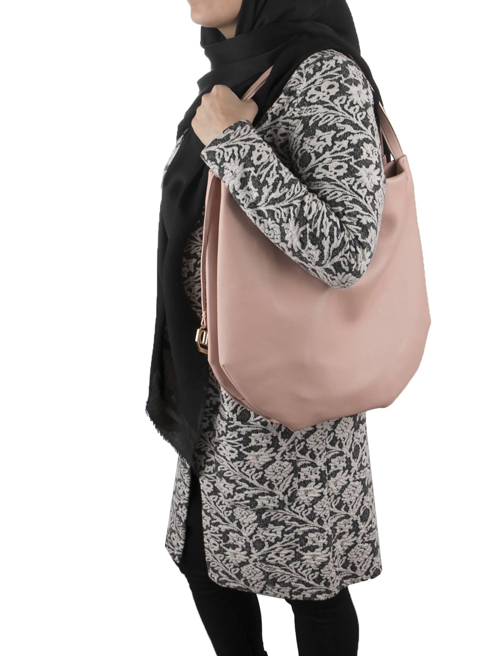 کیف دوشی روزمره زنانه - دادلین تک سایز - صورتي - 2