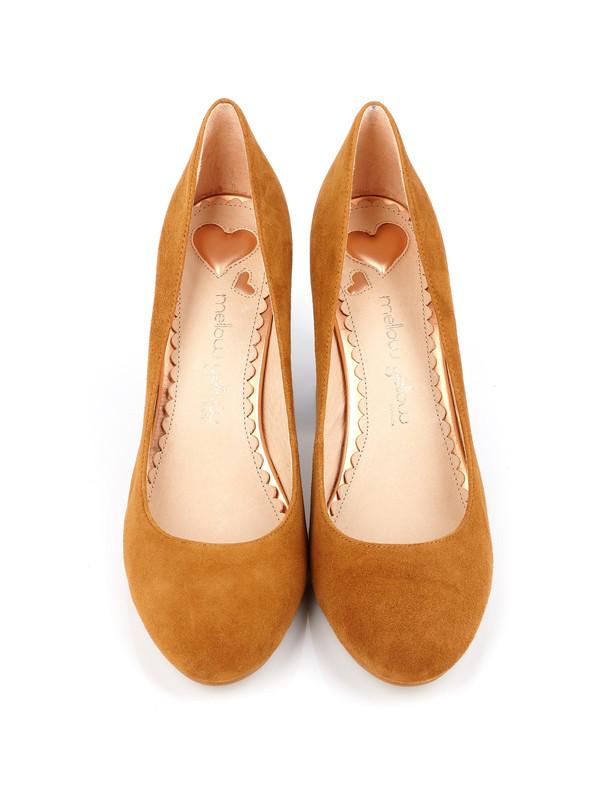 کفش پاشنه بلند چرم زنانه DABOL - ملو یلو