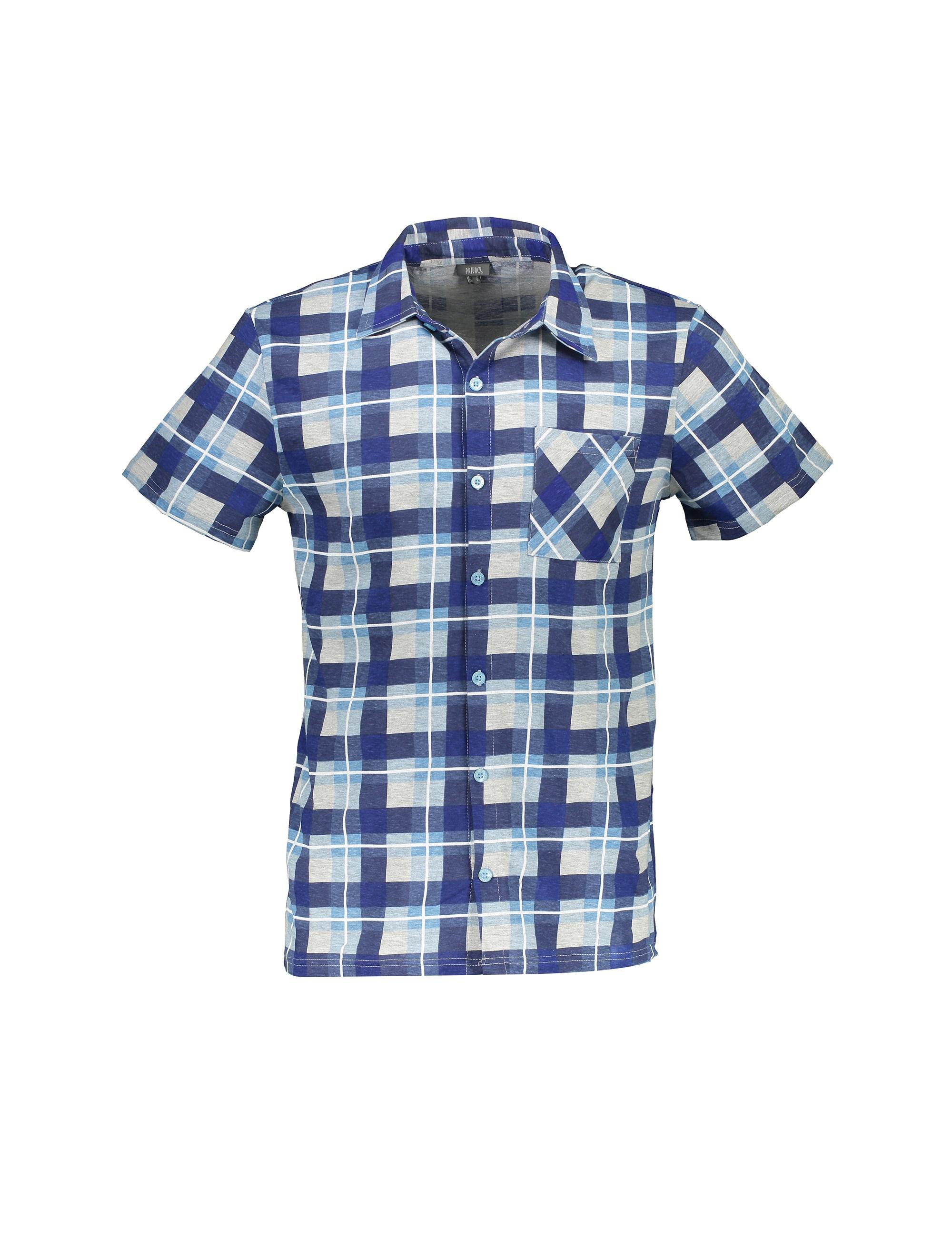 پیراهن و شلوارک نخی راحتی مردانه