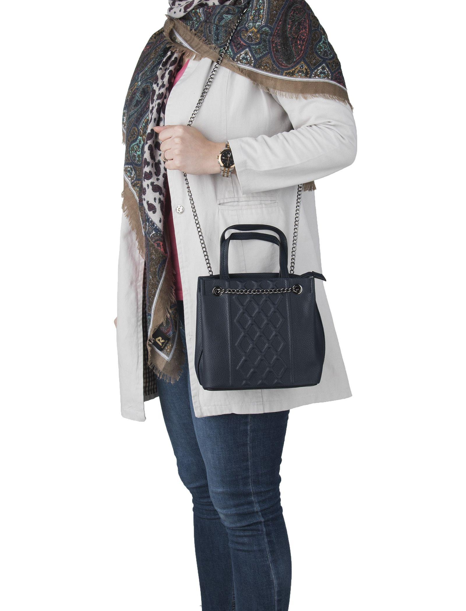 کیف دستی روزمره زنانه - جانی اند جانی تک سایز - سرمه اي - 2