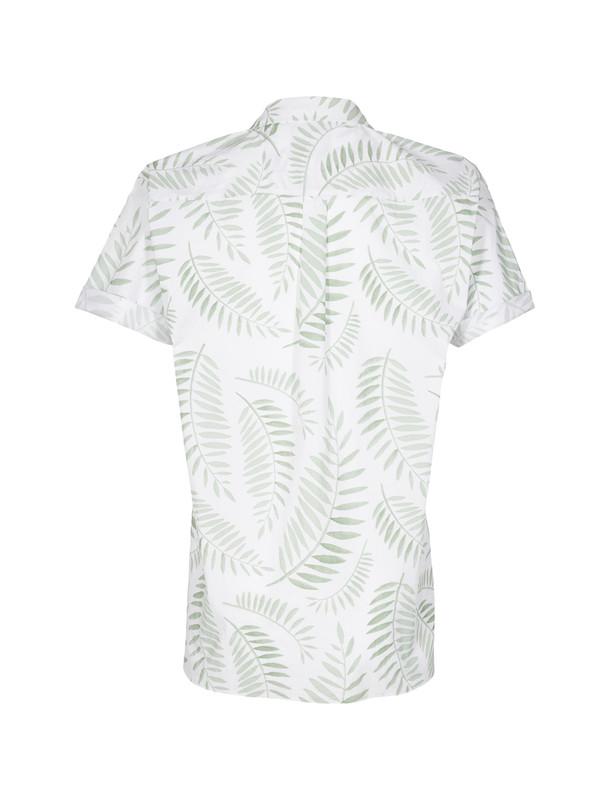 پیراهن نخی آستین کوتاه مردانه Emanuel - مینیموم