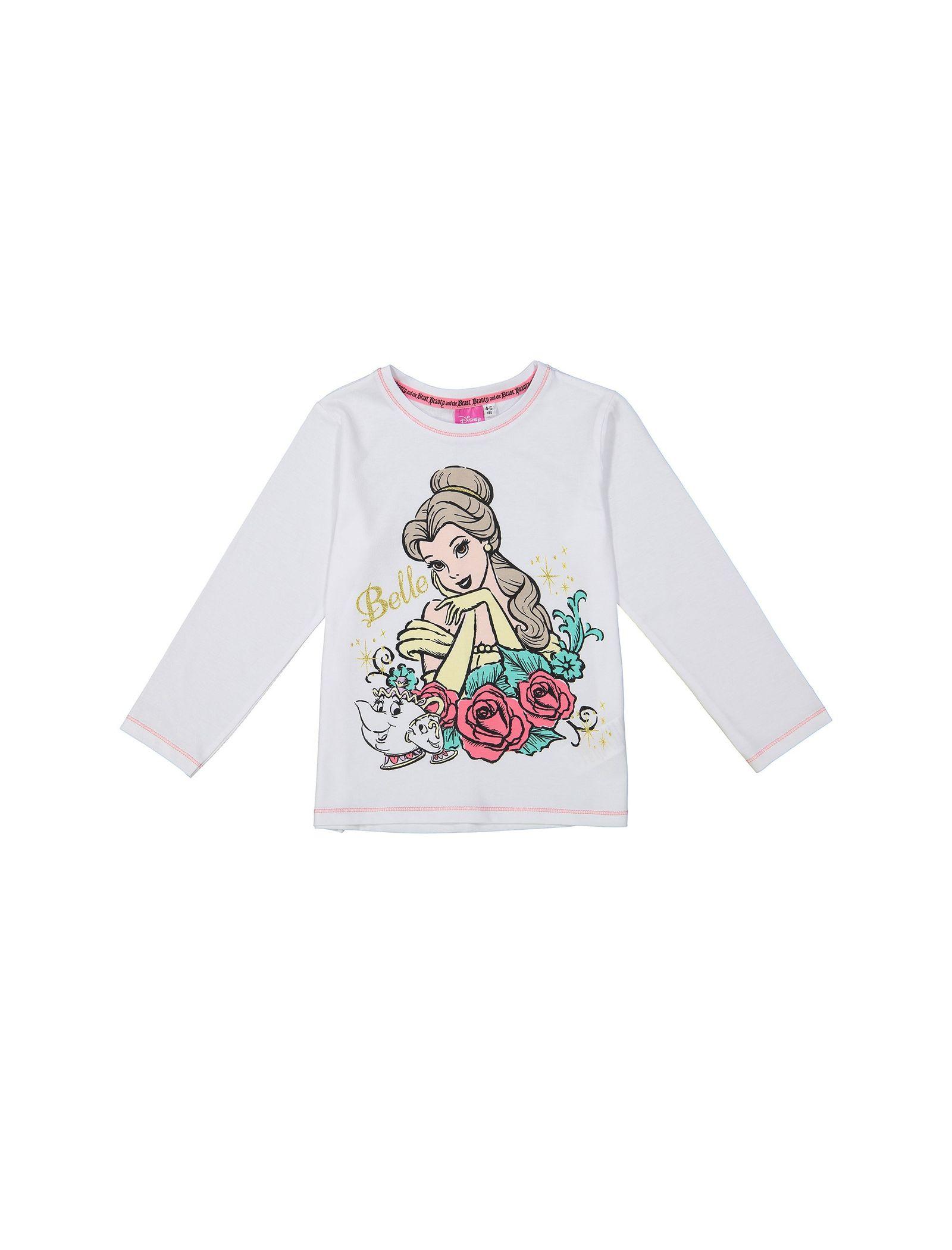 تی شرت و شلوار راحتی نخی دخترانه - دبنهامز - سفيد/صورتي - 2