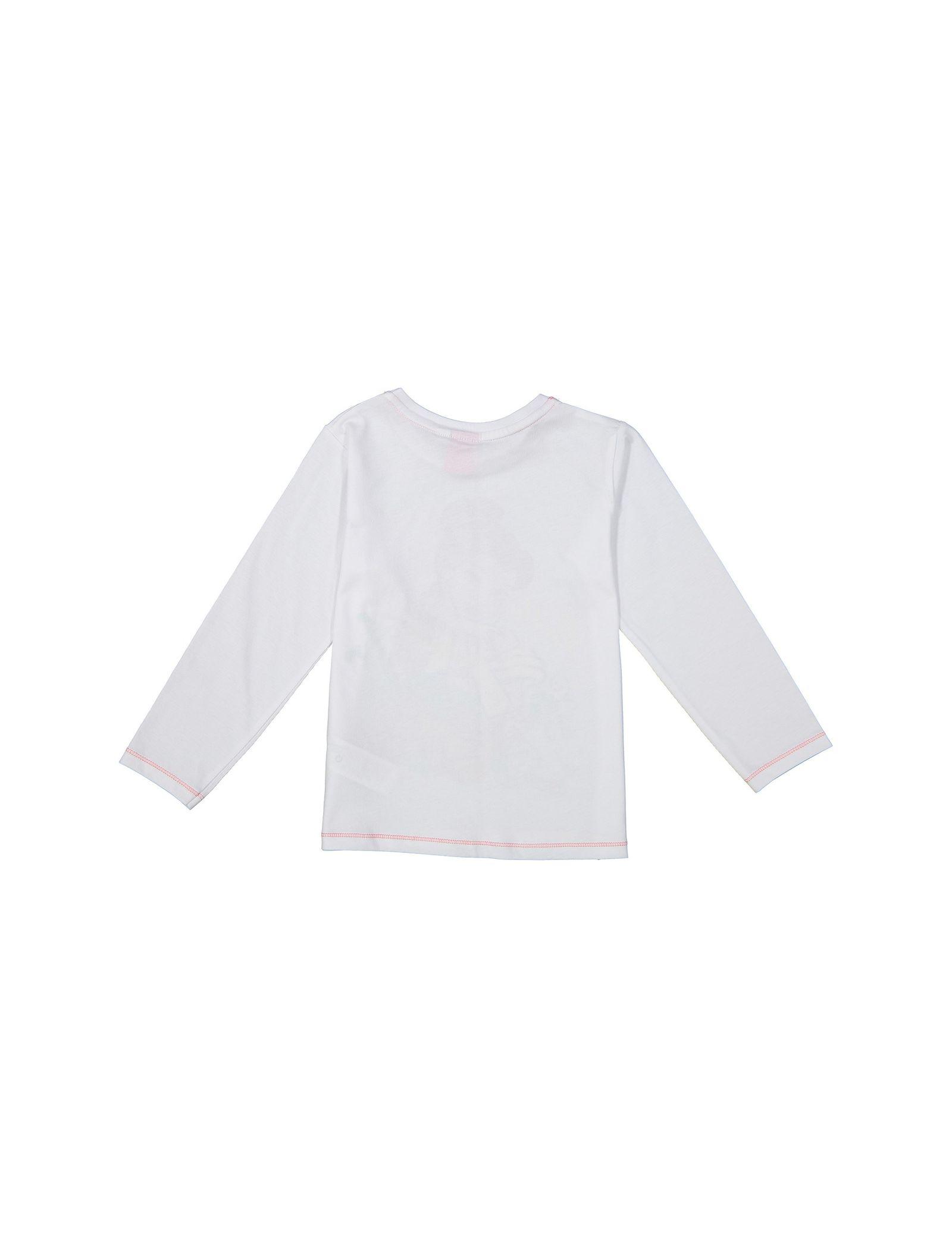 تی شرت و شلوار راحتی نخی دخترانه - دبنهامز - سفيد/صورتي - 3